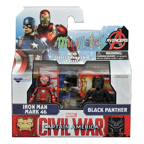 Marvel Minimates Iron Man and Black Panther, Not Mint