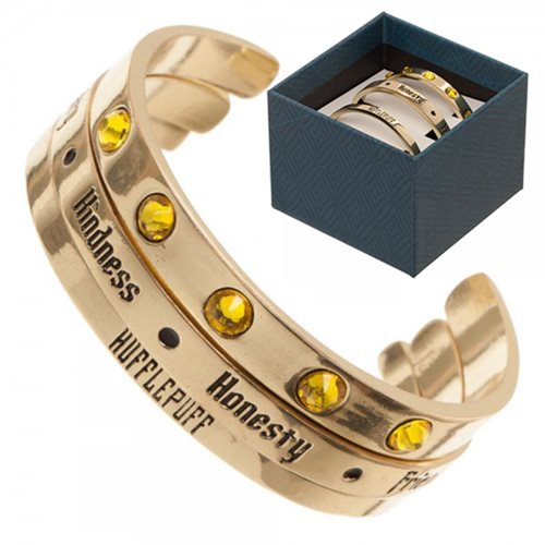 Harry Potter Hufflepuff Cuff Bracelet 3-Pack Set