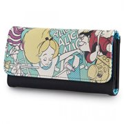 Alice In Wonderland Alice and Queen of Hearts faux-leather Wallet