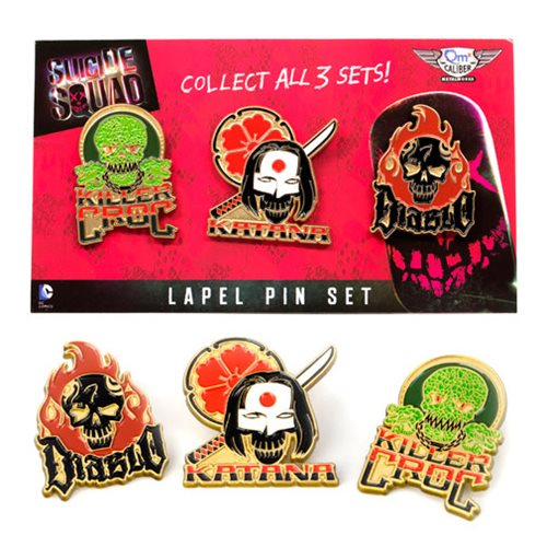 Suicide Squad Lapel Pin Set 2