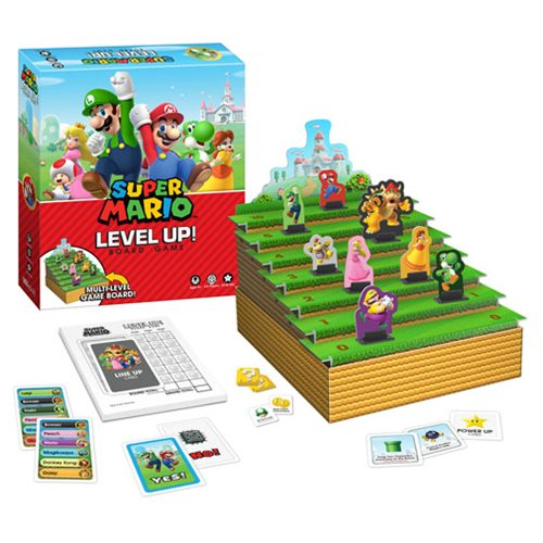 Super Mario Bros Level Up Board Game