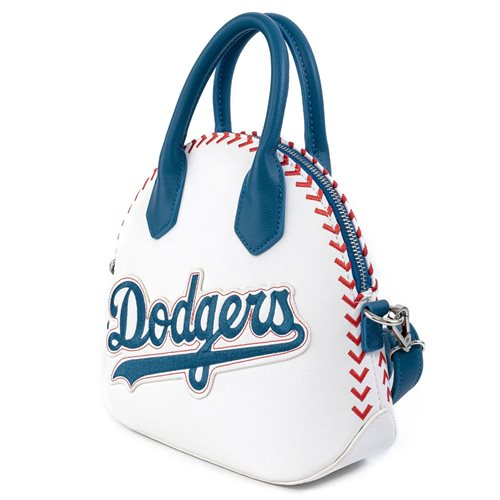MLB Los Angeles Dodgers Stitch Baseball Crossbody Purse