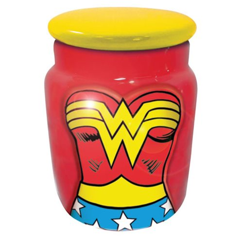 Wonder Woman Molded Character Ceramic Apothecary Jar