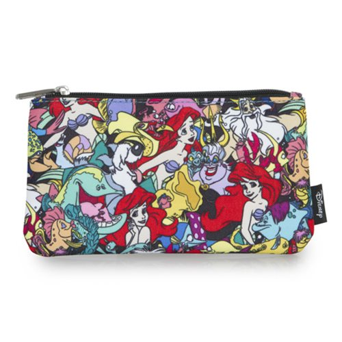 Little Mermaid Ariel Print Travel Cosmetic Bag