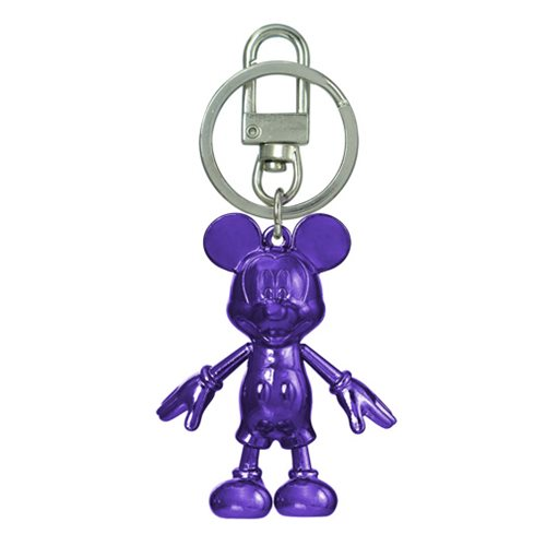 Mickey Mouse February Amethyst Pewter Dangle Key Chain