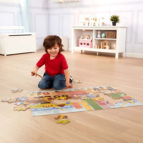 Melissa & Doug Natural Play Big Builder 60-Piece Giant Floor Puzzle