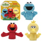 Sesame Street Elmo, Big Bird, and Cookie Monster Finger Puppet Set