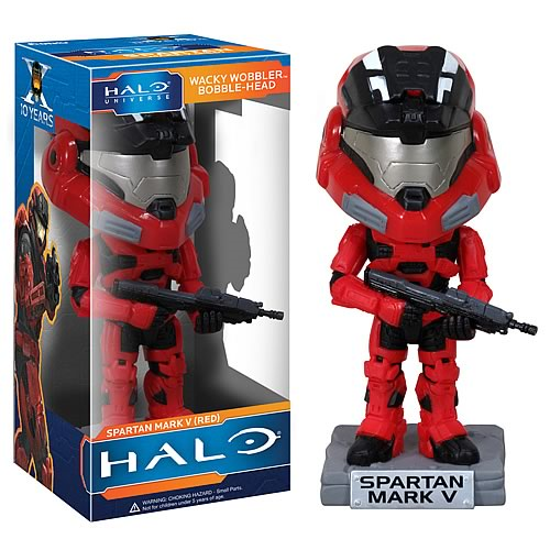 Halo Red Spartan Mark V Bobble Head