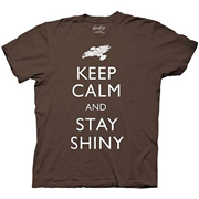 Firefly Keep Calm and Stay Shiny Brown T-Shirt