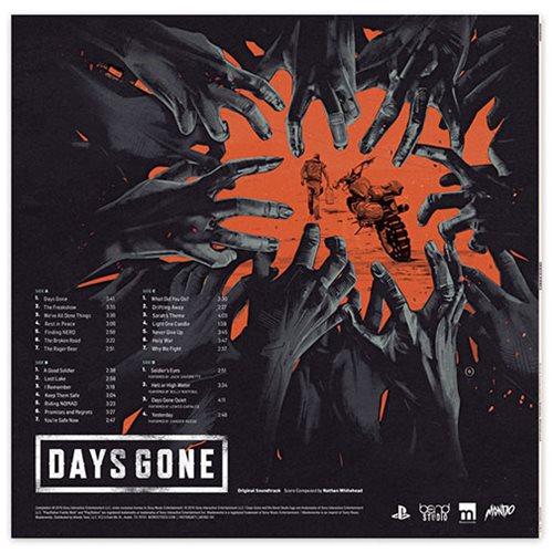 Days Gone Original Video Game Soundtrack 2XLP