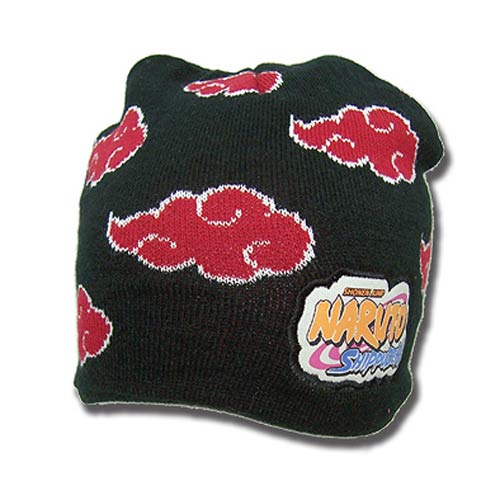 Naruto Shippuden Akatsuki Cloud Icon Black Beanie Hat