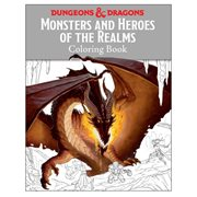 Dungeons & Dragons Monsters and Heroes of the Realms Coloring Book