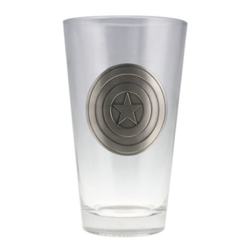 Captain America Colored Shield Pint Glass