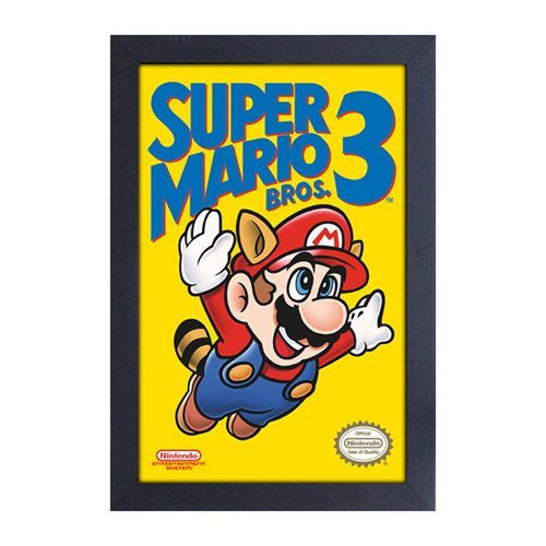 Super Mario Bros. 3 Cartridge Cover Framed Art Print