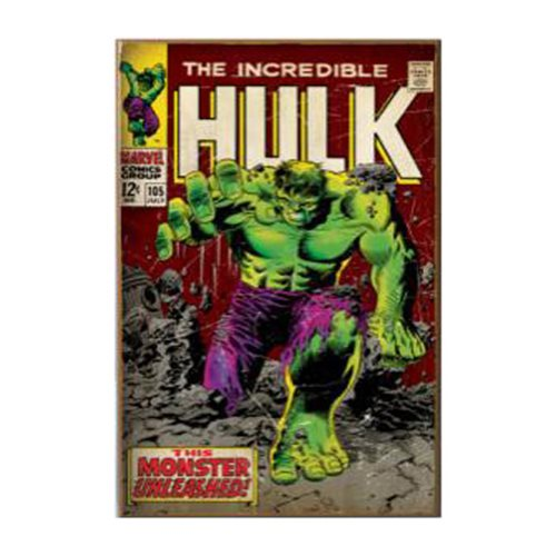 Hulk Unleashed Comic Cover 3D Wood Wall Art