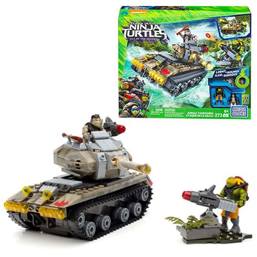 TEENAGEMUTANT NINJA TURTLES JUNGLE TAKEDOWN BUILDING MEGA BLOCKS LEGO GAME SET