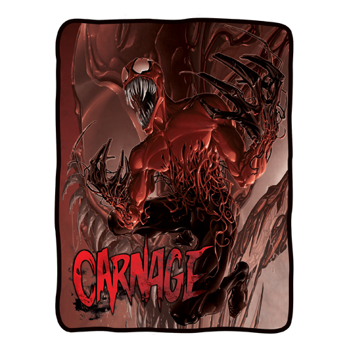 Spider-Man Toxin Carnage Fleece Throw Blanket