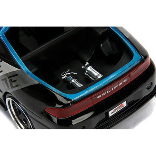JDM Tuners 1995 Mitsubishi Eclipse Candy Blue 1:24 Scale Die-Cast Metal Vehicle Set
