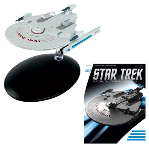 Star Trek Starships Uss Bozeman Miranda-Class Variant Vehicle with Magazine #120