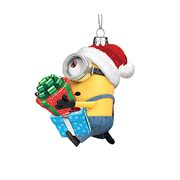 Despicable Me Minion Karl with Presents 3 3/4-Inch Glass Ornament