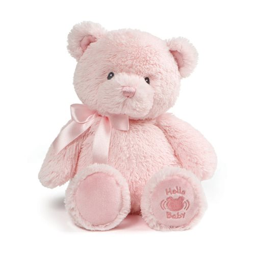 My First Teddy Hello Baby Pink Plush