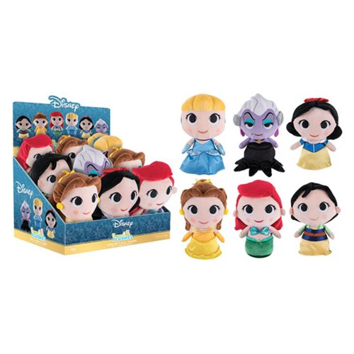 Disney Princess 8-Inch Super Cute Plushies Display Case