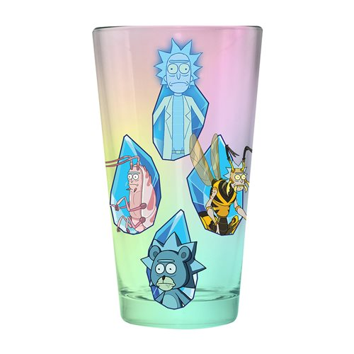 Rick and Morty Irridescent Glass