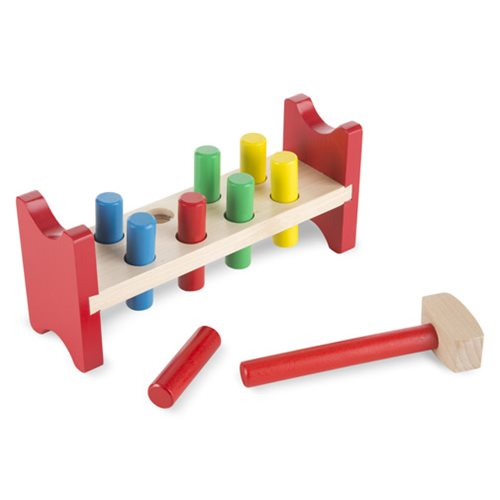 Pound-A-Peg Wooden Bench