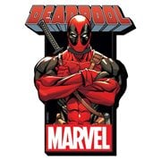 Deadpool with Logo Funky Chunky Magnet