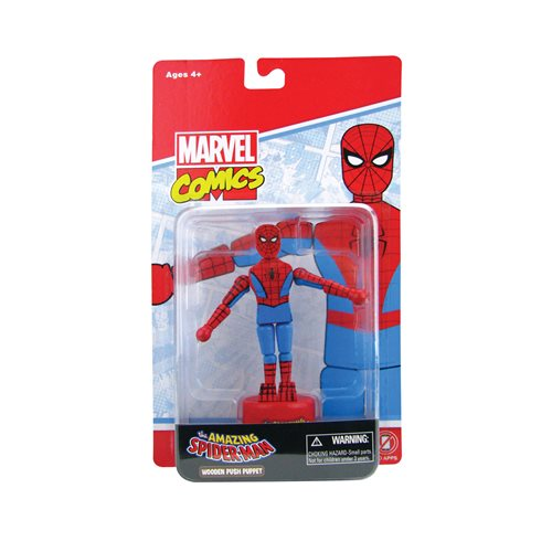 Spider-Man Wooden Push Puppet