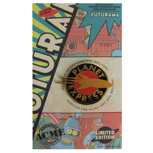 Futurama Planet Express Golden Logo Collectible Pin