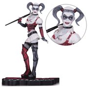 Batman: Arkham Asylum Harley Quinn Red Black and White Statue