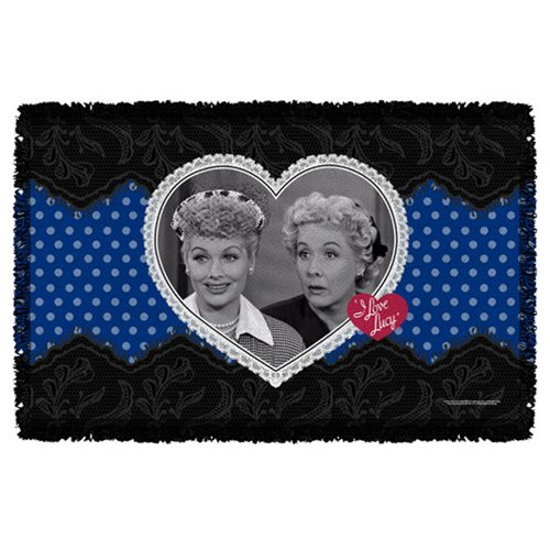 I Love Lucy Lace of Friendship Woven Tapestry Throw Blanket