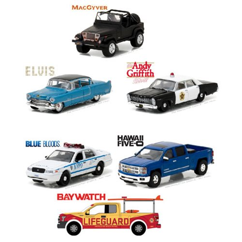 Hollywood Series 16 Die-Cast Metal 1:64 Scale Vehicle Set