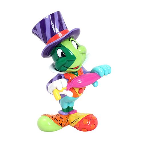 Disney Pinocchio Jiminy Cricket Mini Statue by Romero Britto