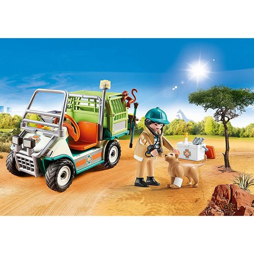 Playmobil 70346 Zoo Vet with Medical Cart