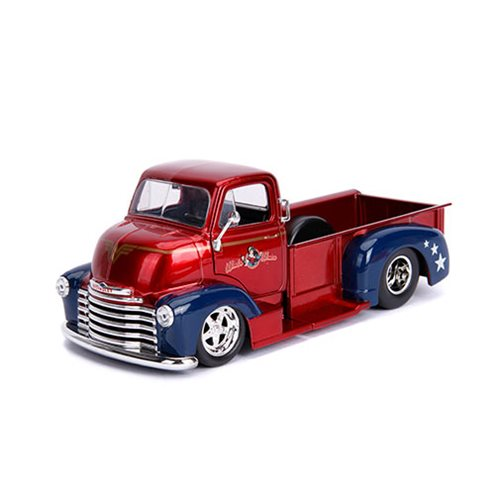 DC Bombshells Wonder Woman 1952 Chevy COE 1:24 Scale Die-Cast Metal Vehicle