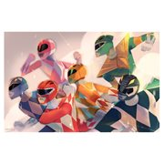 Mighty Morphin' Power Rangers Charge Attack! By Abigail L. Dela Cruz Lithograph Art Print