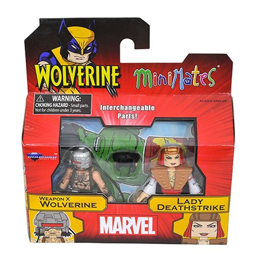 Minimates Wolverine and Lady Deathstrike 2-Pack , Not Mint