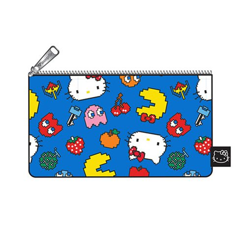 Hello Kitty Pac-Man Character Print Pencil Case