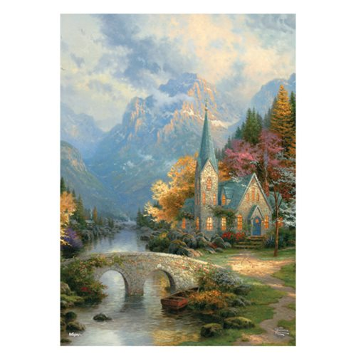 Thomas Kinkade The Mountain Chapel MightyPrint Wall Art Print