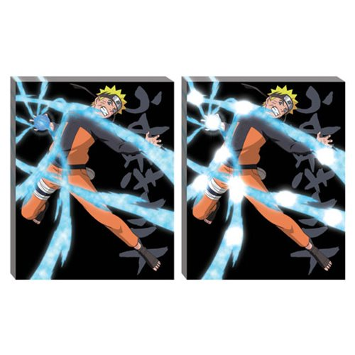 Naruto Shippuden Rasengan LED Light-Up Canvas Wall Art