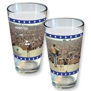 Woodstock Crowd Photo Quote Pint Glass
