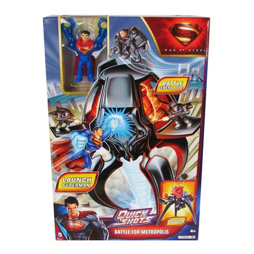 Superman Man of Steel Quickshots Battle Metropolis Playset