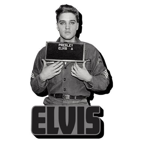 Elvis Presley Enlistment Photo Funky Chunky Magnet