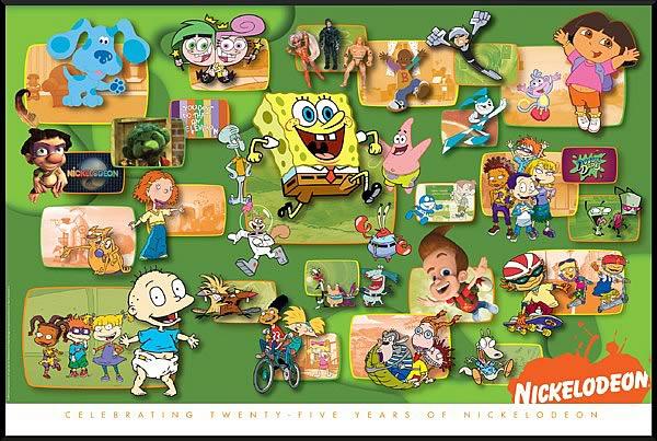 Nickelodeon 25th Anniversary Litho Print Entertainment Earth