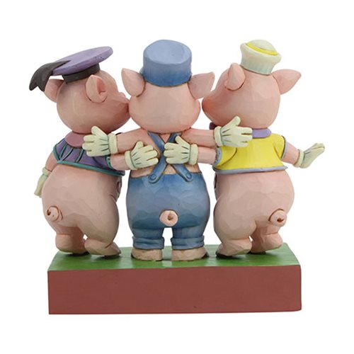 Disney Traditions Silly Symphony Three Little Pigs Squealing Siblings by Jim Shore Statue