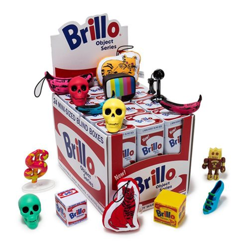Andy Warhol Brillo Box Mini-Figure Series Display Box