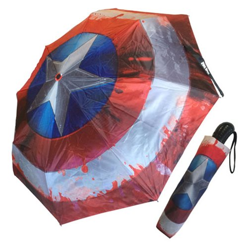 Marvel Comics Civil War Captain America Shield Umbrella