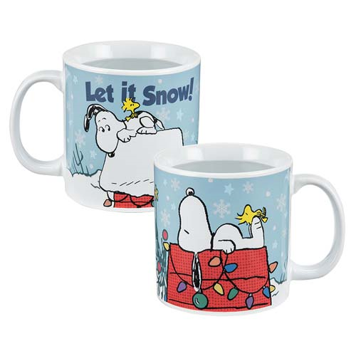 Peanuts Holiday 20 oz. Heat-Reactive Ceramic Mug
